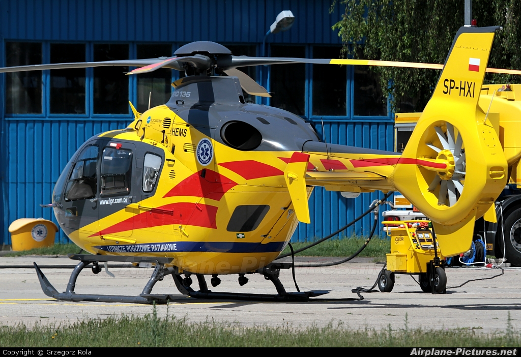 Polish Medical Air Rescue - Lotnicze Pogotowie Ratunkowe SP-HXI aircraft at Warsaw - Babice