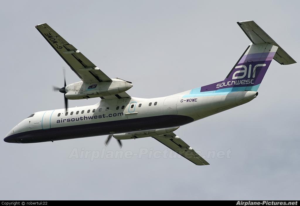 Air Southwest G-WOWE aircraft at Bristol - Lulsgate