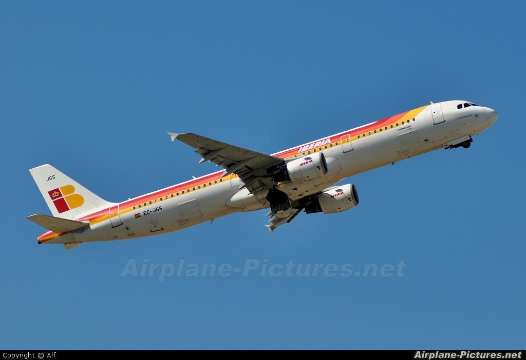 Iberia EC-JGS aircraft at Madrid - Barajas