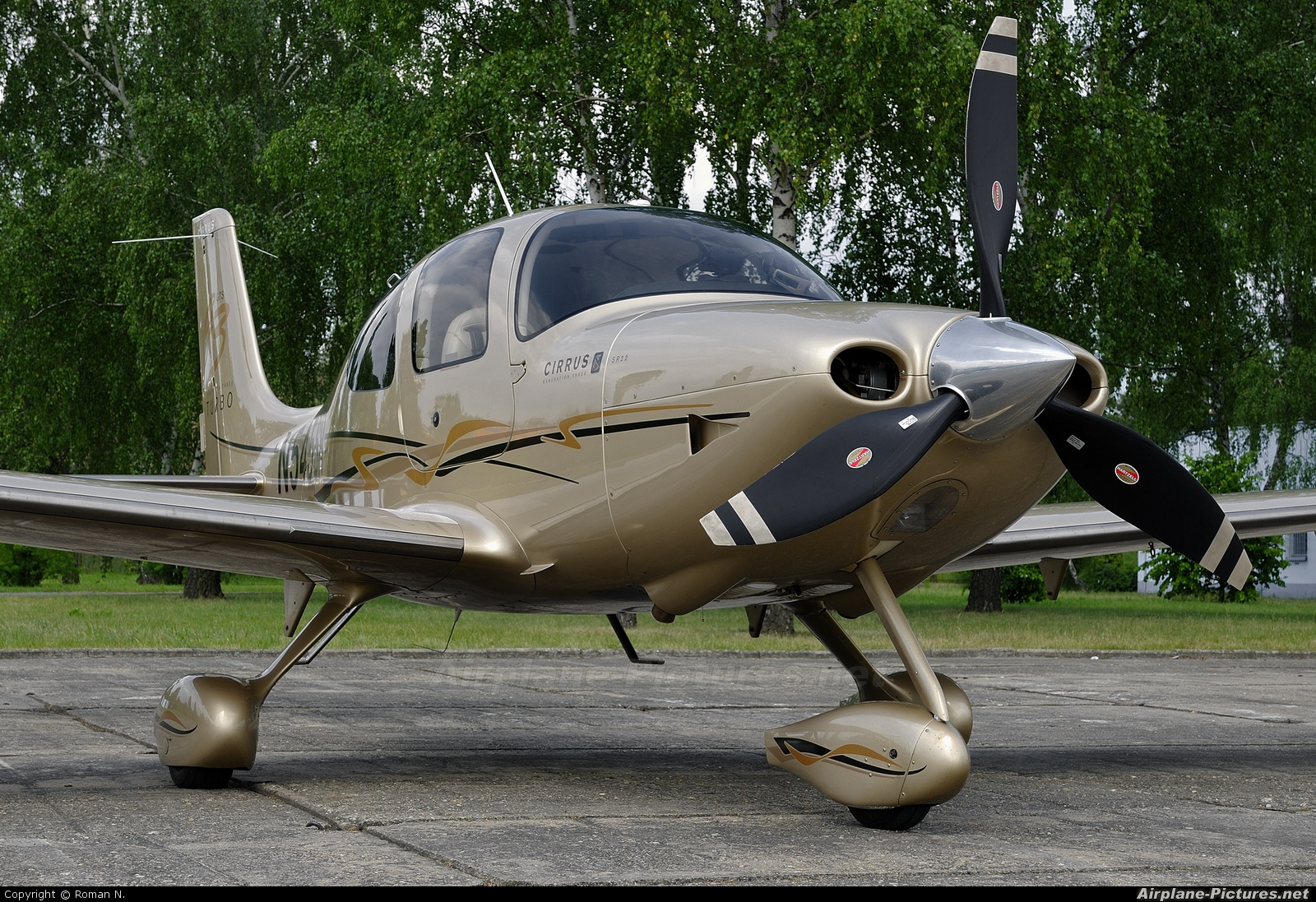 Private N545SR aircraft at Bydgoszcz - Szwederowo
