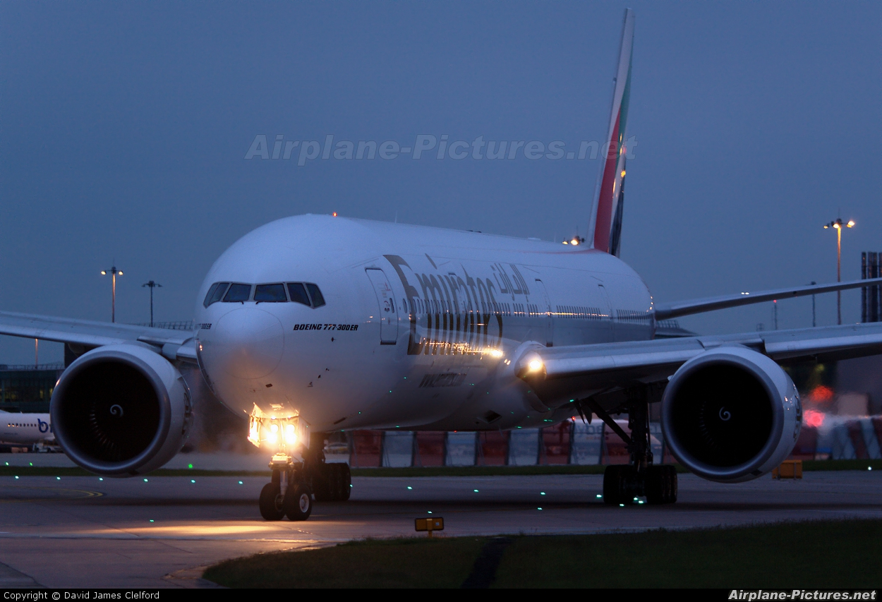 Emirates Airlines A6-ECY aircraft at Manchester