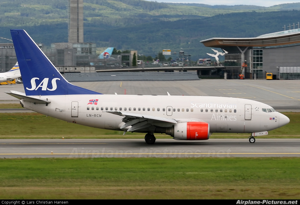 SAS - Scandinavian Airlines LN-RCW aircraft at Oslo - Gardermoen