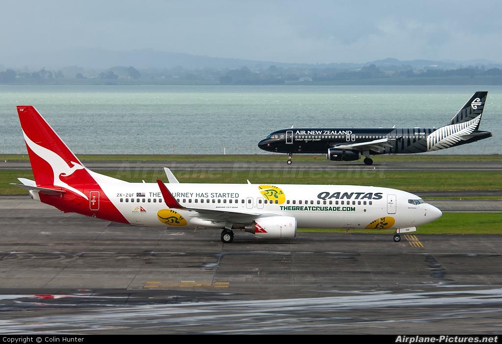 JetConnect (Qantas NZ) ZK-ZQF aircraft at Auckland Intl