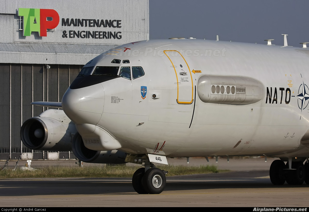NATO LX-N90446 aircraft at Lisbon