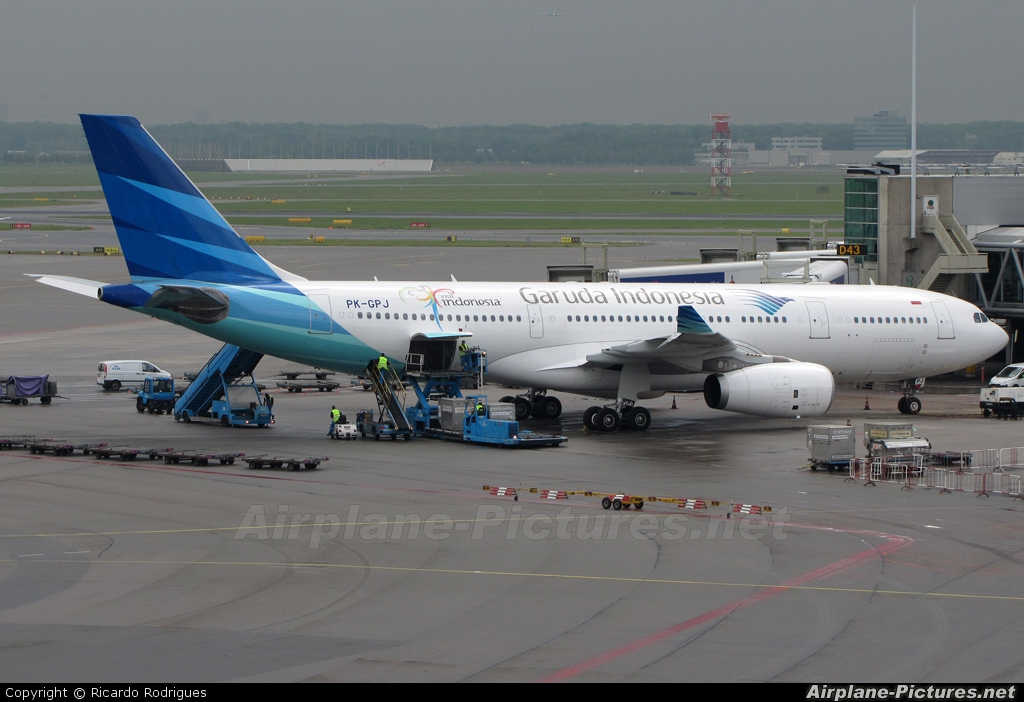 Garuda Indonesia PK-GPJ aircraft at Amsterdam - Schiphol