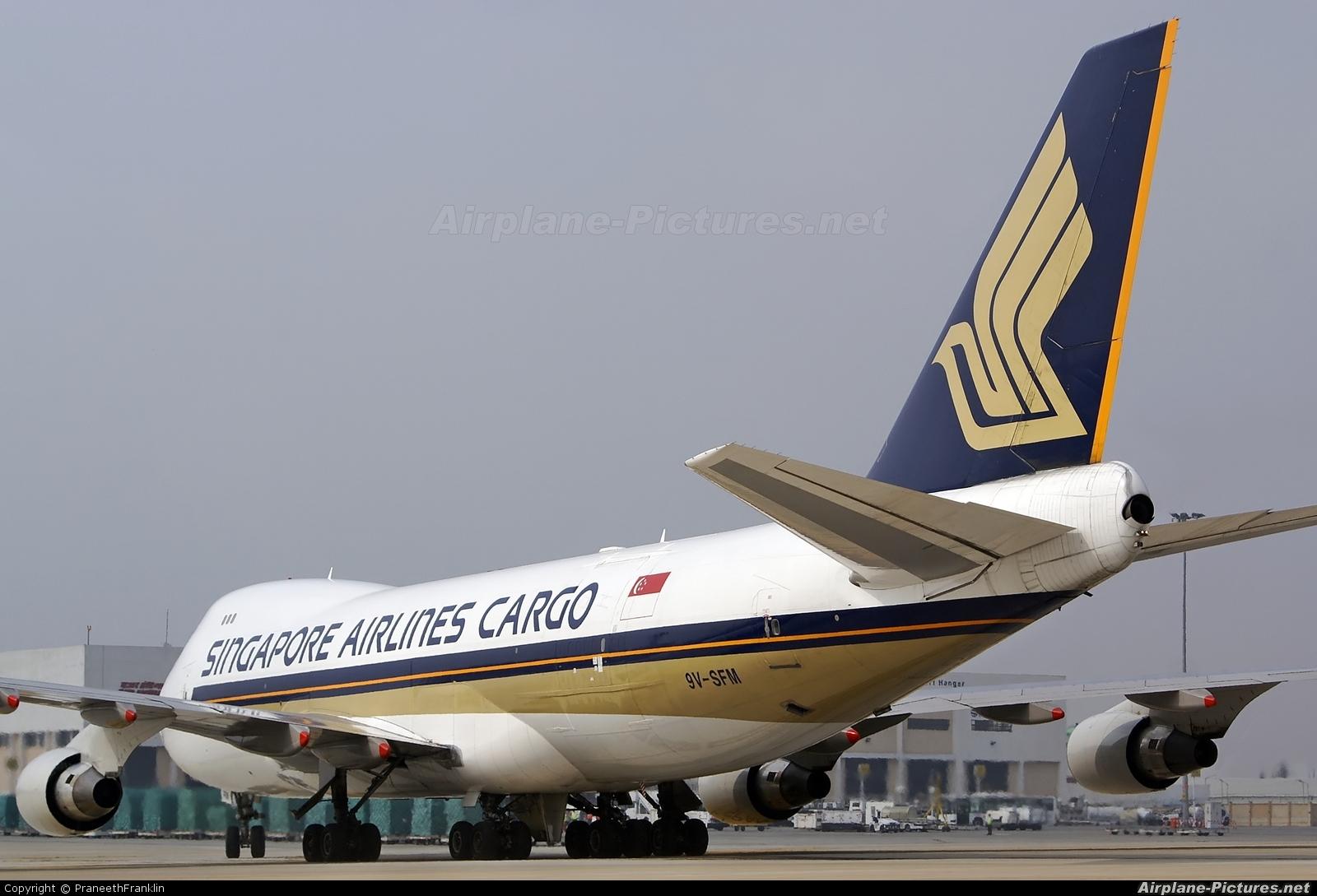 Singapore Airlines Cargo 9V-SFM aircraft at Bangalore - Bengaluru Intl