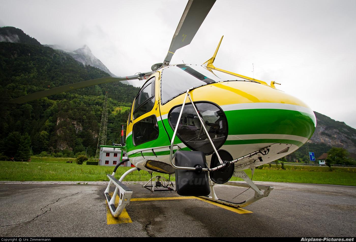 Heli Gotthard HB-ZHA aircraft at Erstfeld heliport