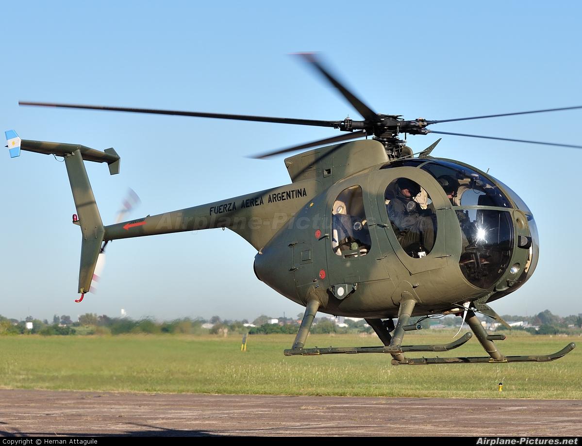 H-39 - Argentina - Air Force Hughes 500D at El Palomar ... Sadp