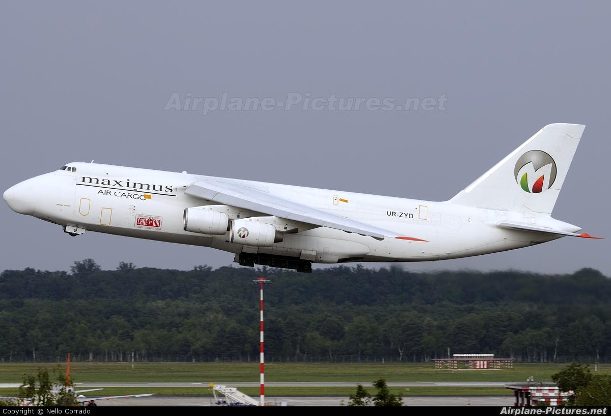 Maximus Air Cargo UR-ZYD aircraft at Milan - Malpensa