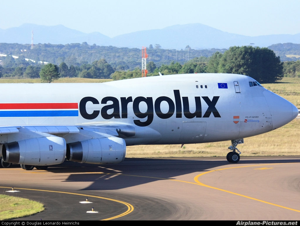 Cargolux LX-NCV aircraft at Curitiba -  Afonso Pena