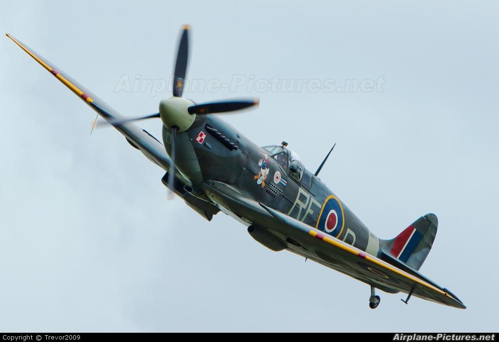 "Royal Air Force ""Battle of Britain Memorial Flight&quot AB910 aircraft at Kemble"