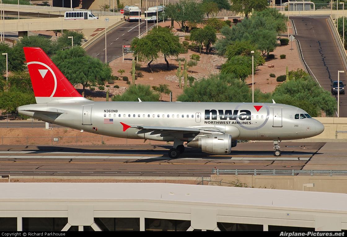 Northwest Airlines N360NB aircraft at Phoenix - Sky Harbor Intl