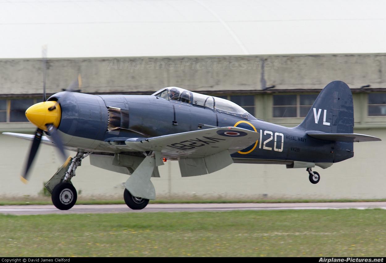 Naval Aviation G-RNHF aircraft at Kemble