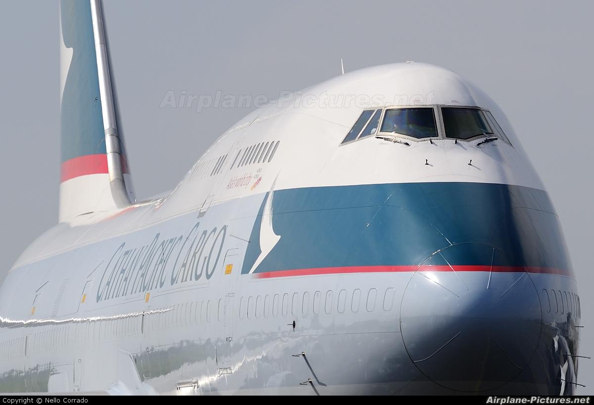 Cathay Pacific Cargo B-HKX aircraft at Milan - Malpensa