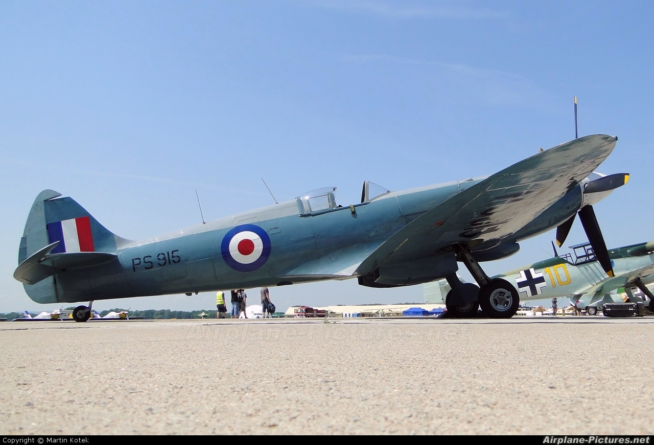 "Royal Air Force ""Battle of Britain Memorial Flight"" PS915 aircraft at Pardubice"
