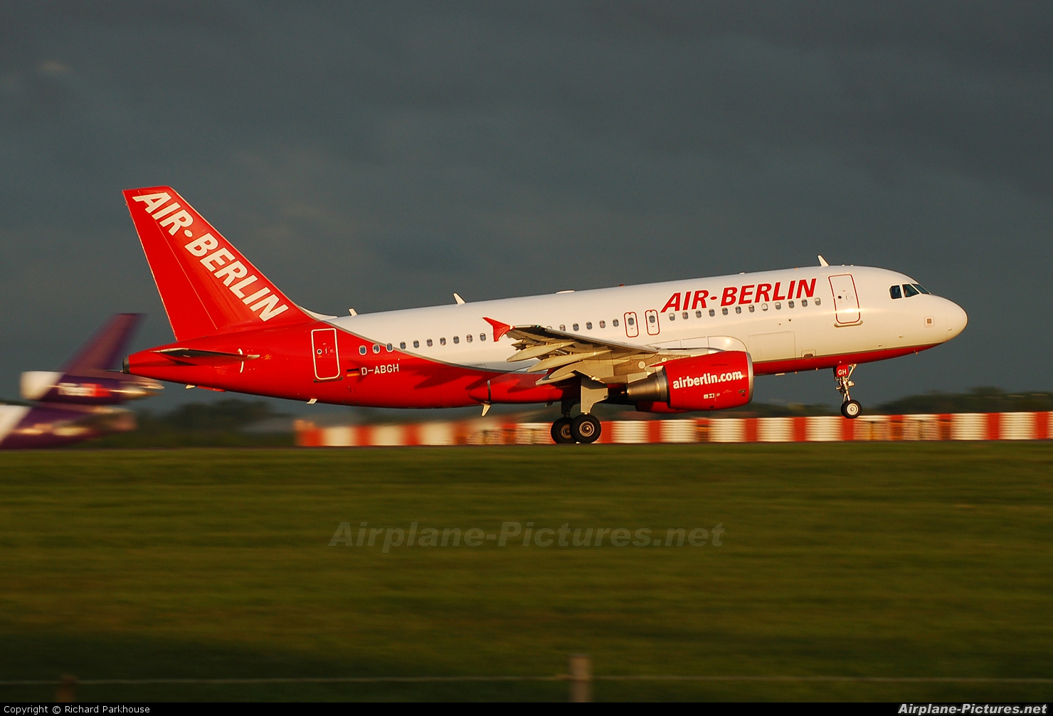 Air Berlin D-ABGH aircraft at London - Stansted