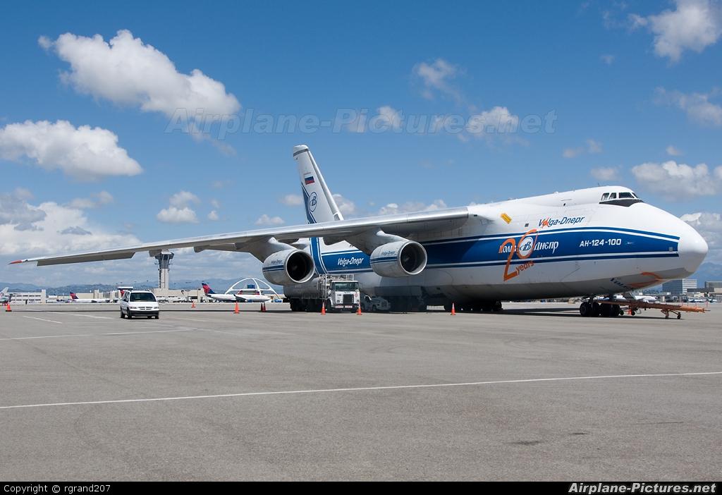 Volga Dnepr Airlines RA-82042 aircraft at Los Angeles Intl