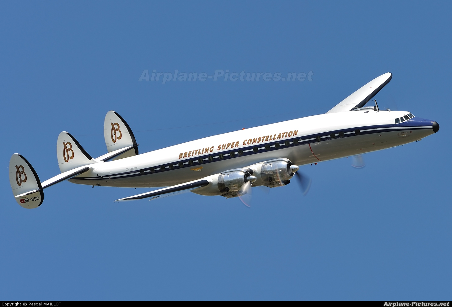 Super Constellation Flyers HB-RSC aircraft at Paris - Le Bourget