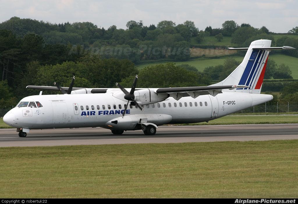 Air France - Airlinair F-GPOC aircraft at Bristol - Lulsgate