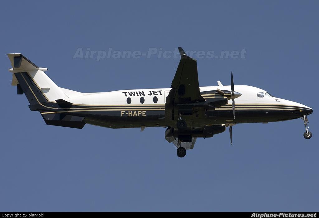 Twin Jet F-HAPE aircraft at Verona - Villafranca
