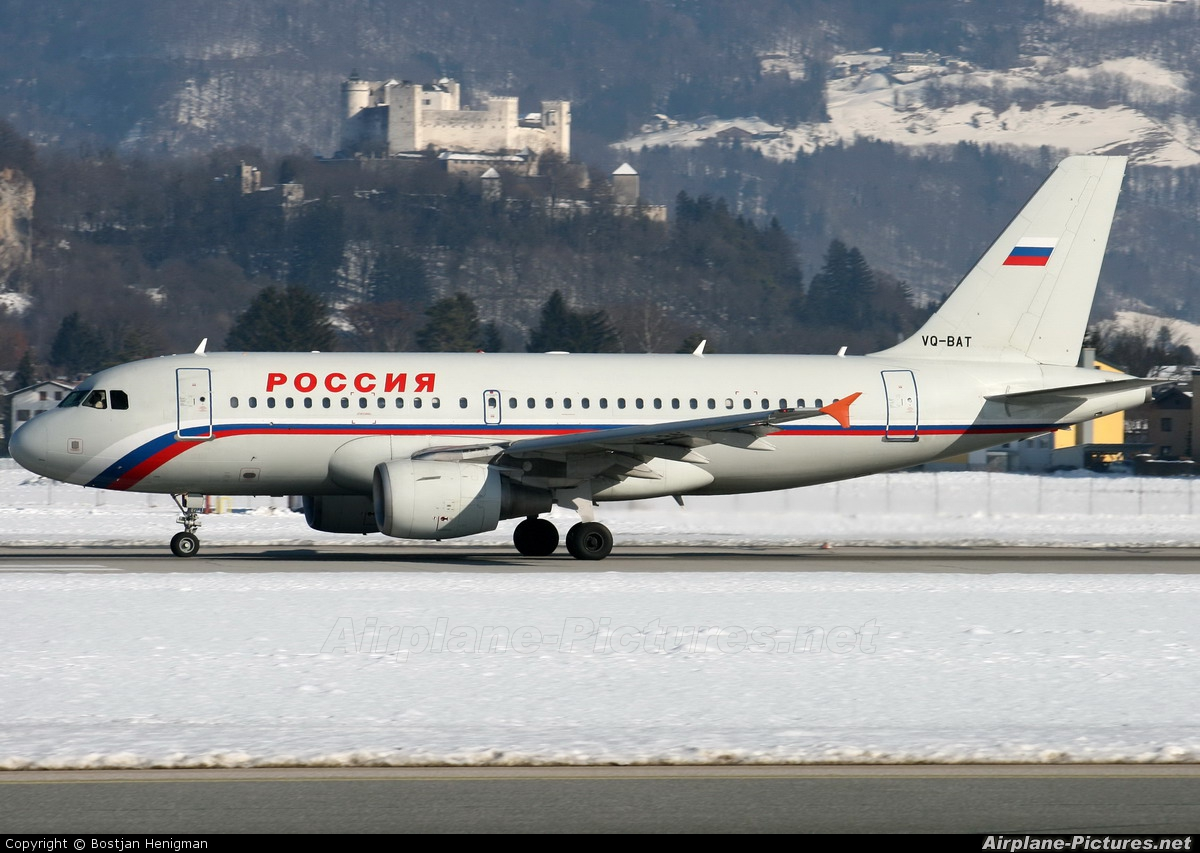 Rossiya VQ-BAT aircraft at Salzburg