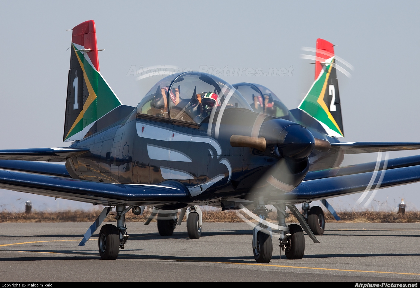 South Africa - Air Force: Silver Falcons 2025 aircraft at Johannesburg - Rand