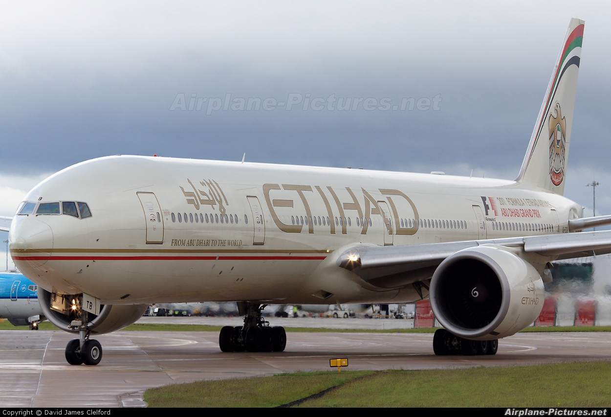 Etihad Airways A6-ETB aircraft at Manchester