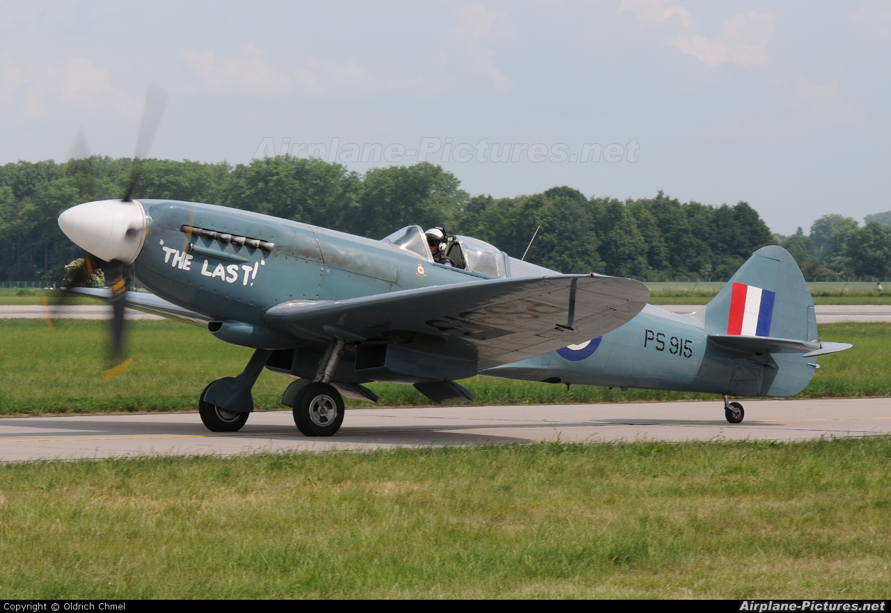 "Royal Air Force ""Battle of Britain Memorial Flight&quot PS915 aircraft at Pardubice"