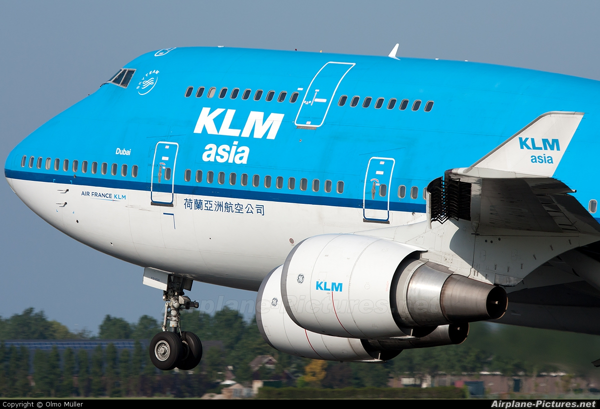 KLM Asia PH-BFD aircraft at Amsterdam - Schiphol