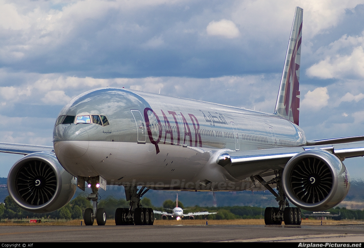 Qatar Airways A7-BAL aircraft at Madrid - Barajas