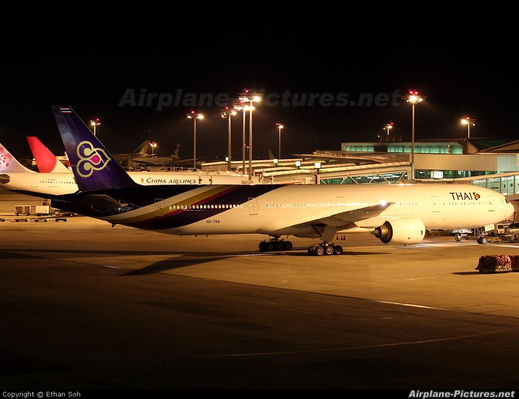 Thai Airways HS-TKA aircraft at Singapore - Changi