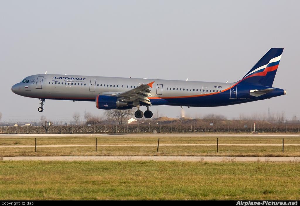 Aeroflot VQ-BEI aircraft at Verona - Villafranca