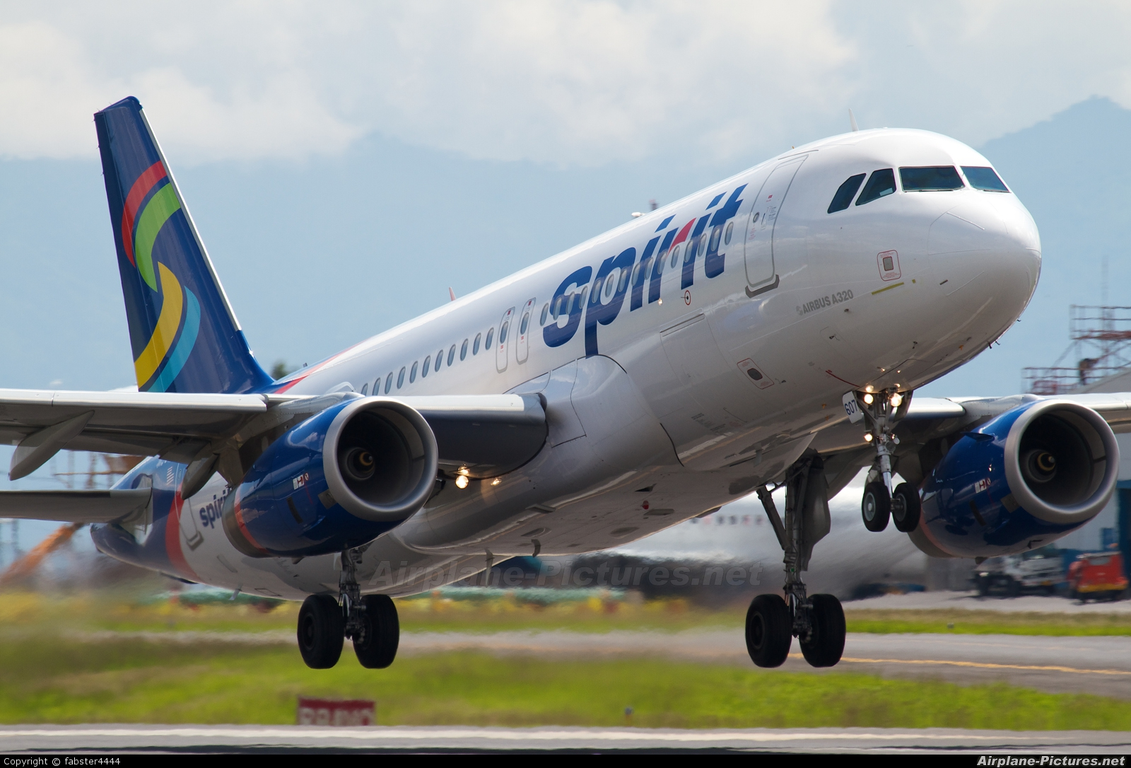 N607nk spirit airlines airbus a320 at san jose juan for Spirit airlines one way