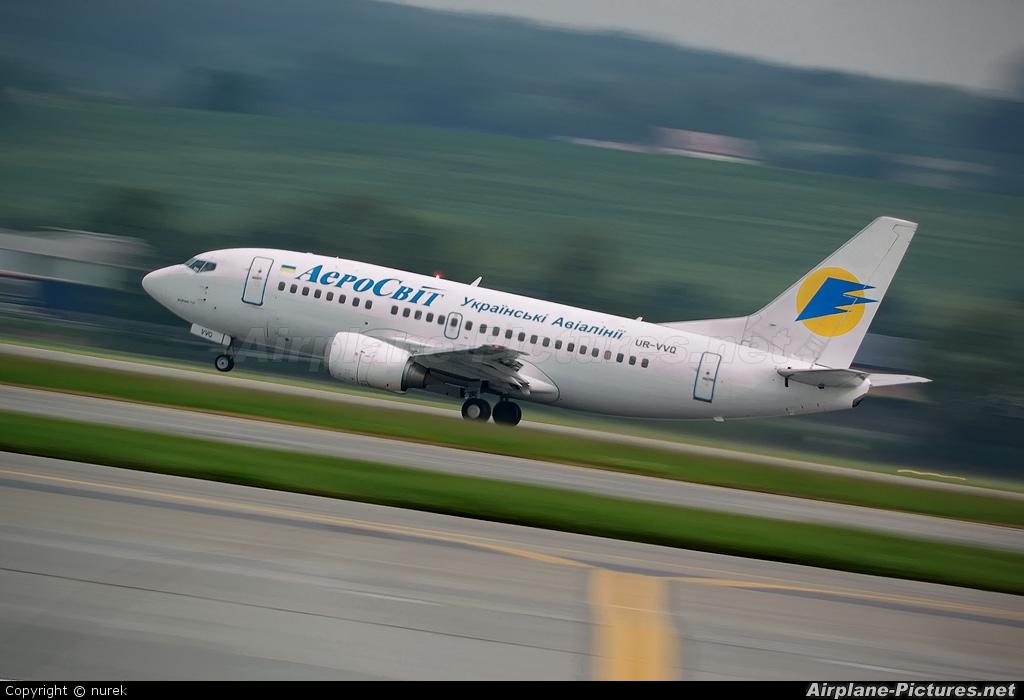 Aerosvit - Ukrainian Airlines UR-VVQ aircraft at Kraków - John Paul II Intl