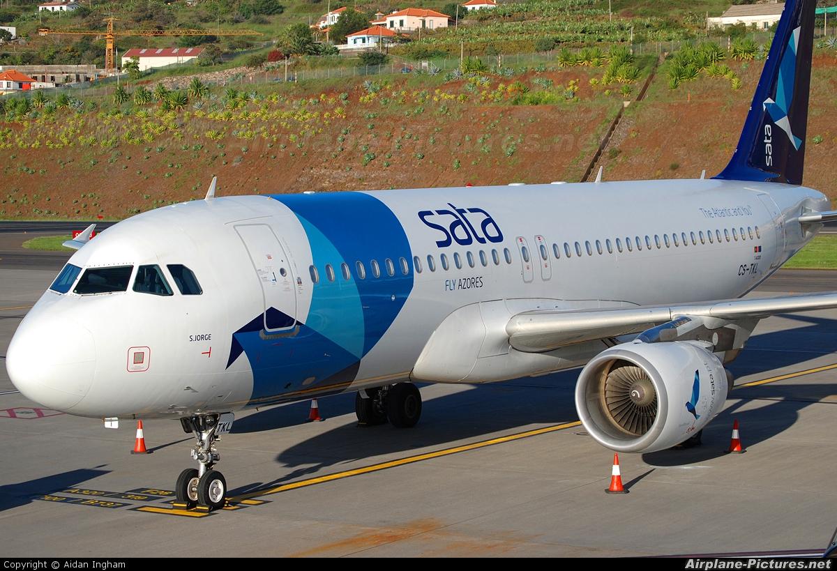 SATA International CS-TKL aircraft at Madeira