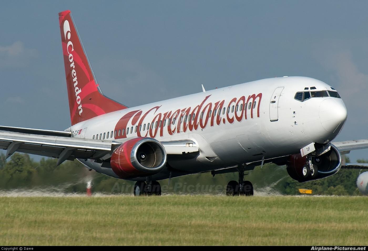 Corendon Airlines TC-TJF aircraft at Prague - Václav Havel