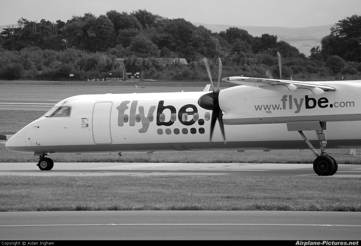 Flybe G-ECOF aircraft at Manchester