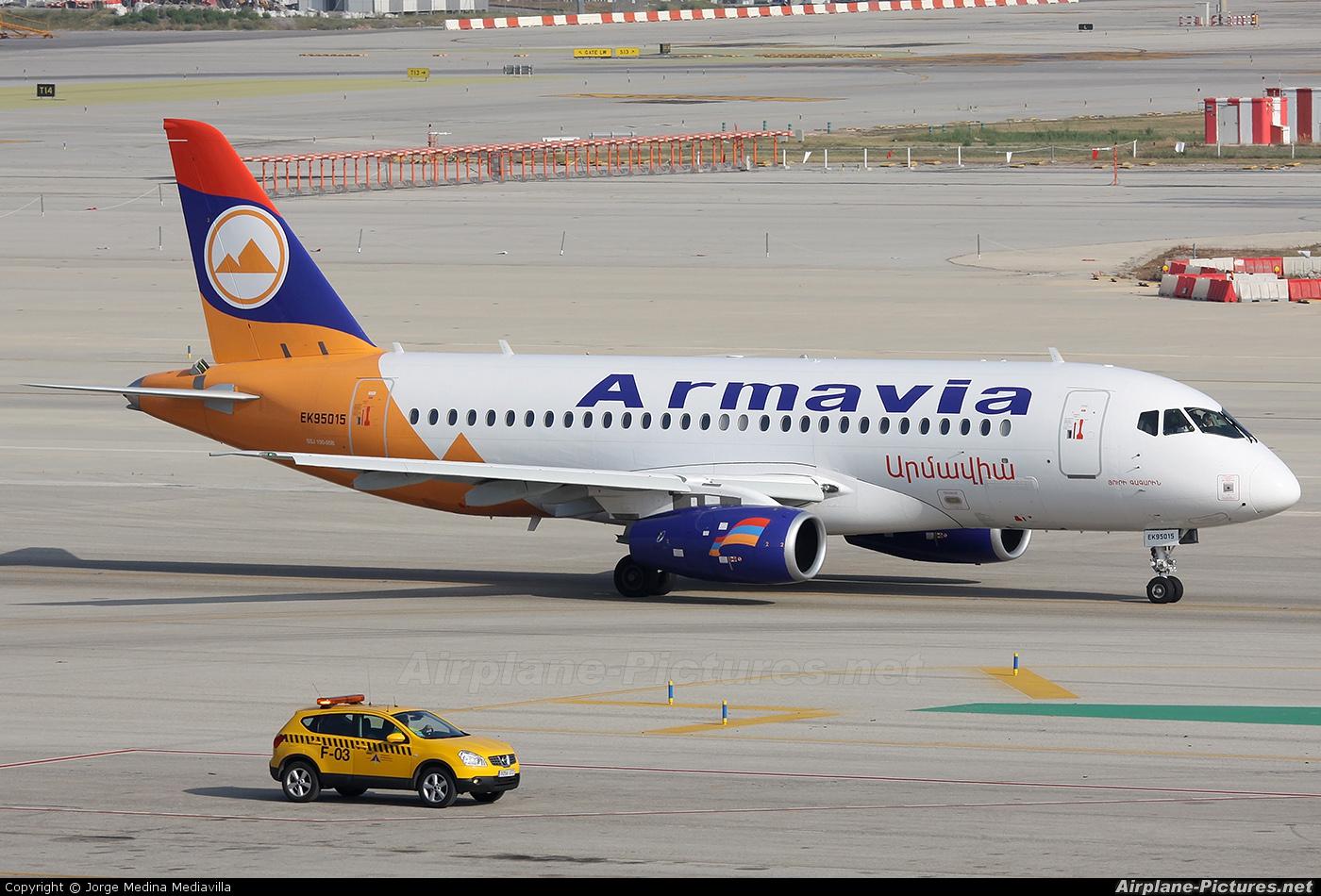 Armavia EK-95015 aircraft at Barcelona - El Prat