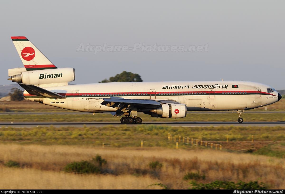 Biman Bangladesh S2-ACQ aircraft at Milan - Malpensa