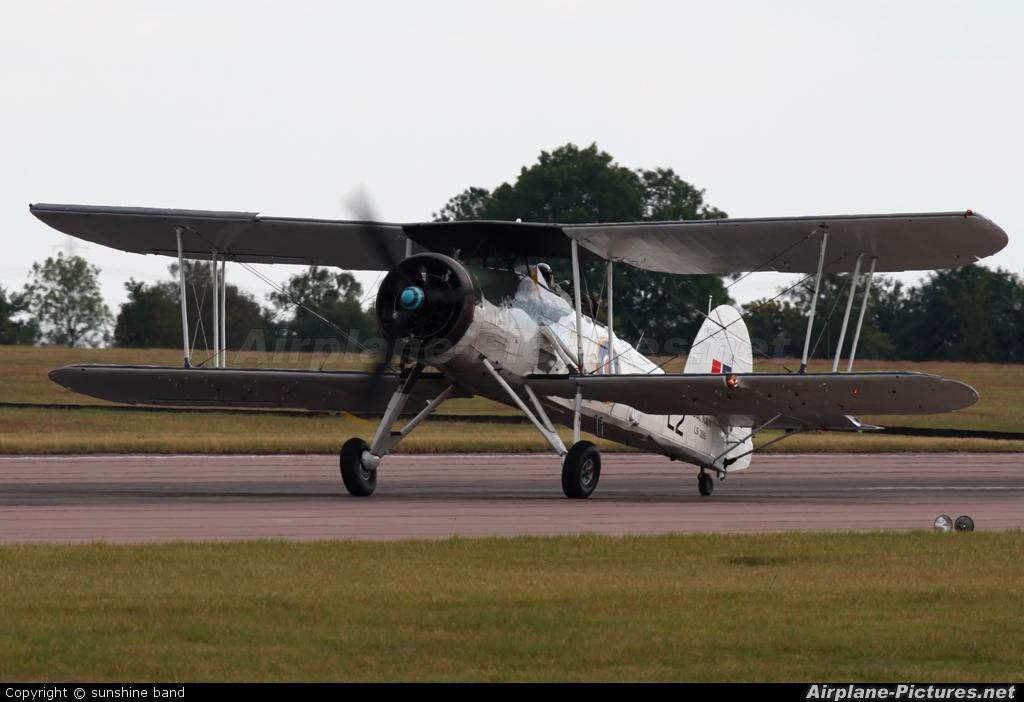 """Royal Navy """"Historic Flight"""" LS326 aircraft at Waddington"""