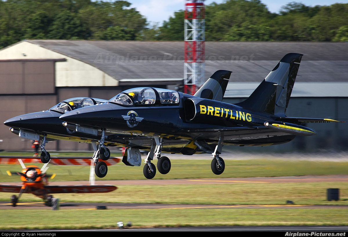 Breitling Jet Team ES-YLX aircraft at Fairford