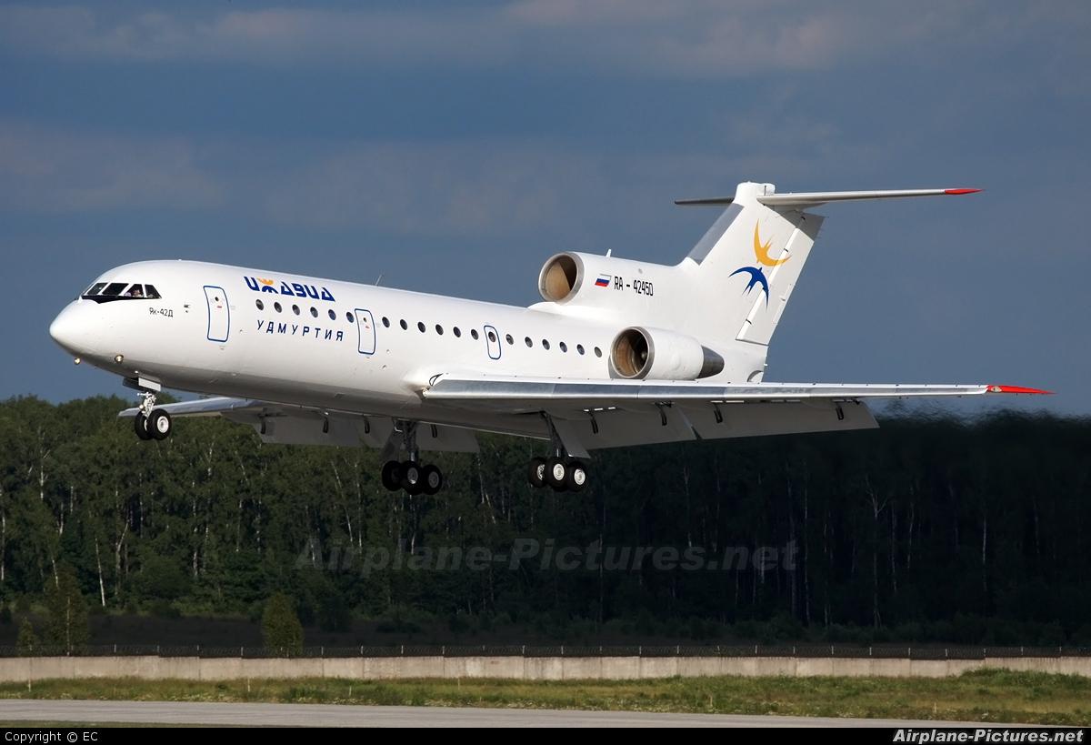 Izhavia RA-42450 aircraft at Moscow - Domodedovo