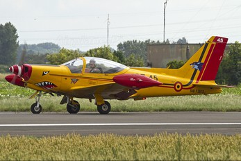 "ST-45 - Belgium - Air Force ""Hardship Red"" SIAI-Marchetti SF-260"