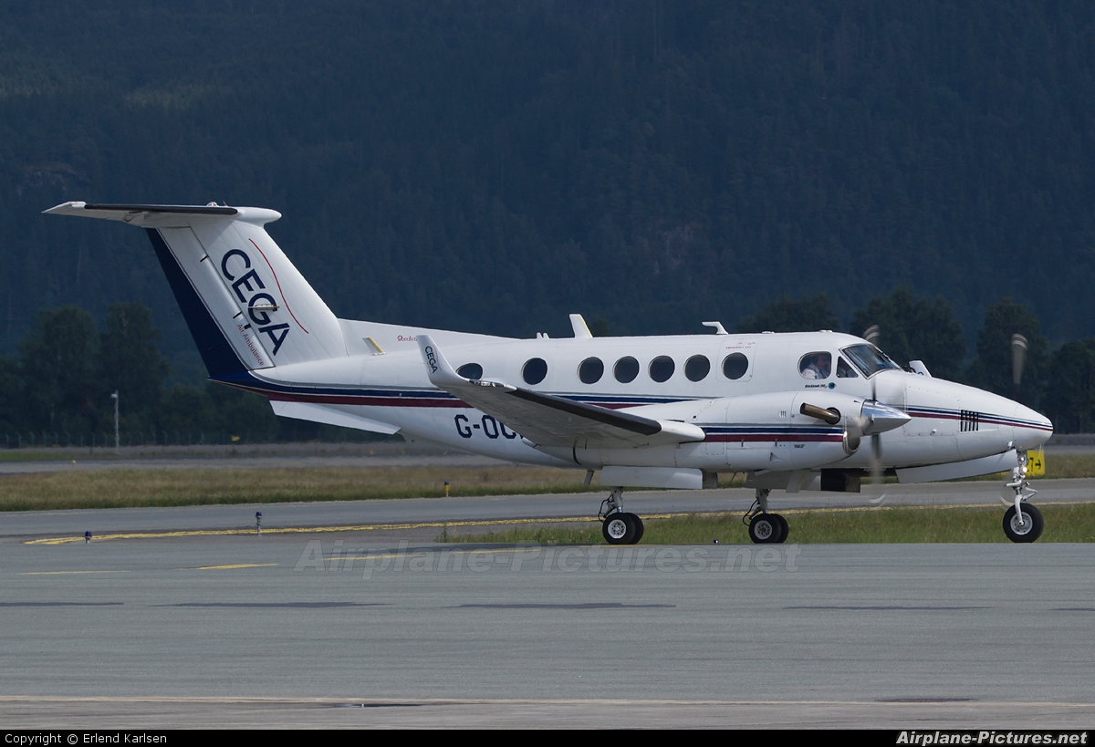 Cega Air Ambulance UK G-OCEG aircraft at Trondheim - Vaernes