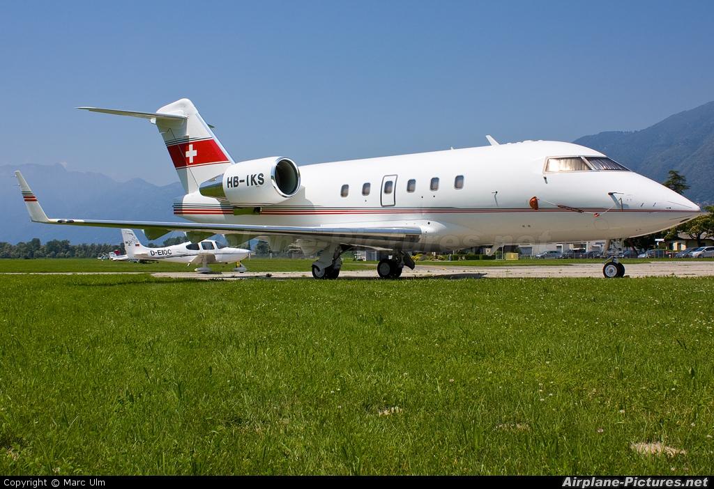 Air Charter HB-IKS aircraft at Locarno