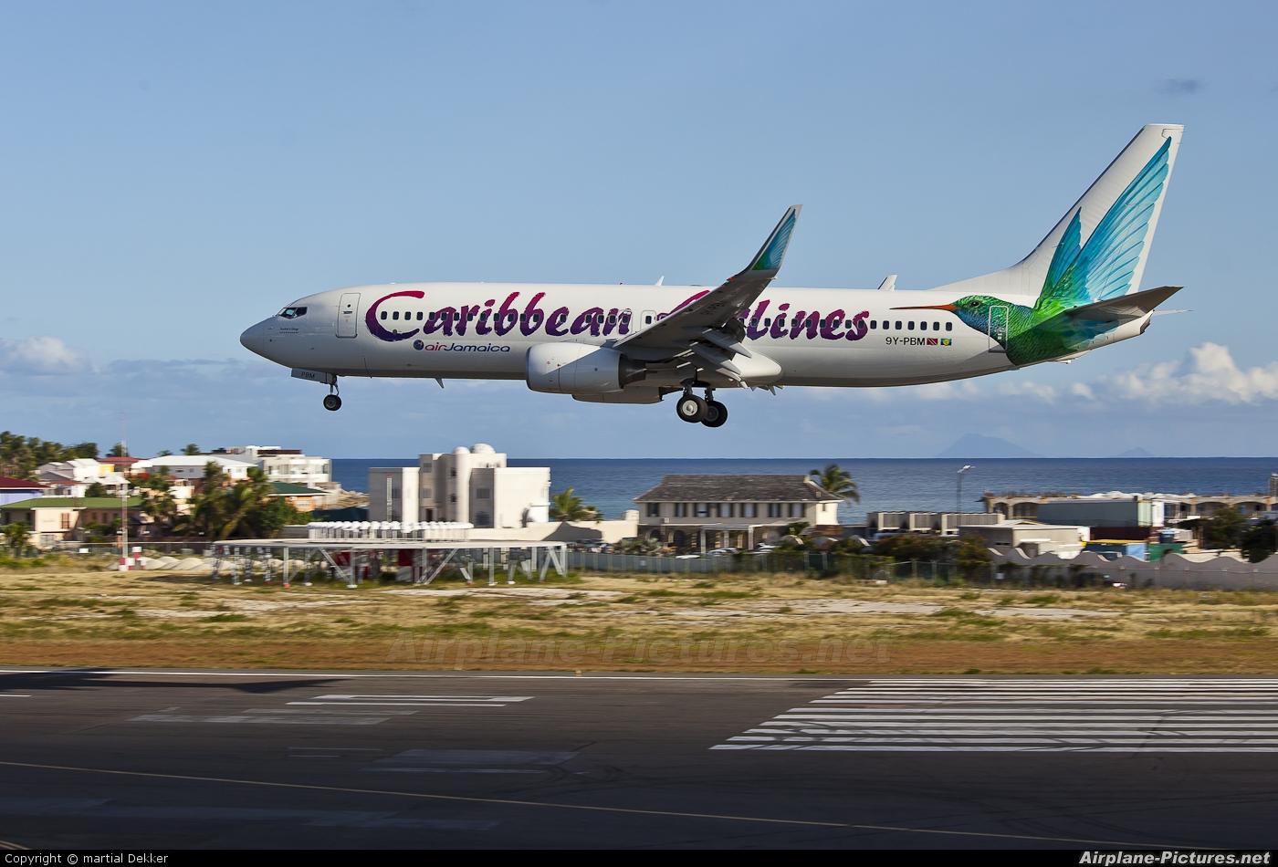 Caribbean Airlines  9Y-PBM aircraft at Sint Maarten - Princess Juliana Intl