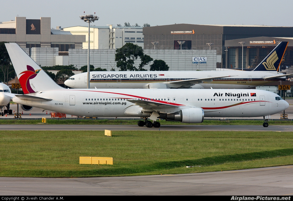 Air Niugini P2-PXV aircraft at Singapore - Changi