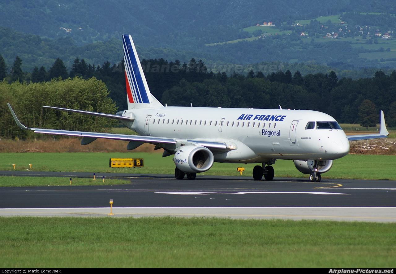Air France - Regional F-HBLF aircraft at Ljubljana - Brnik