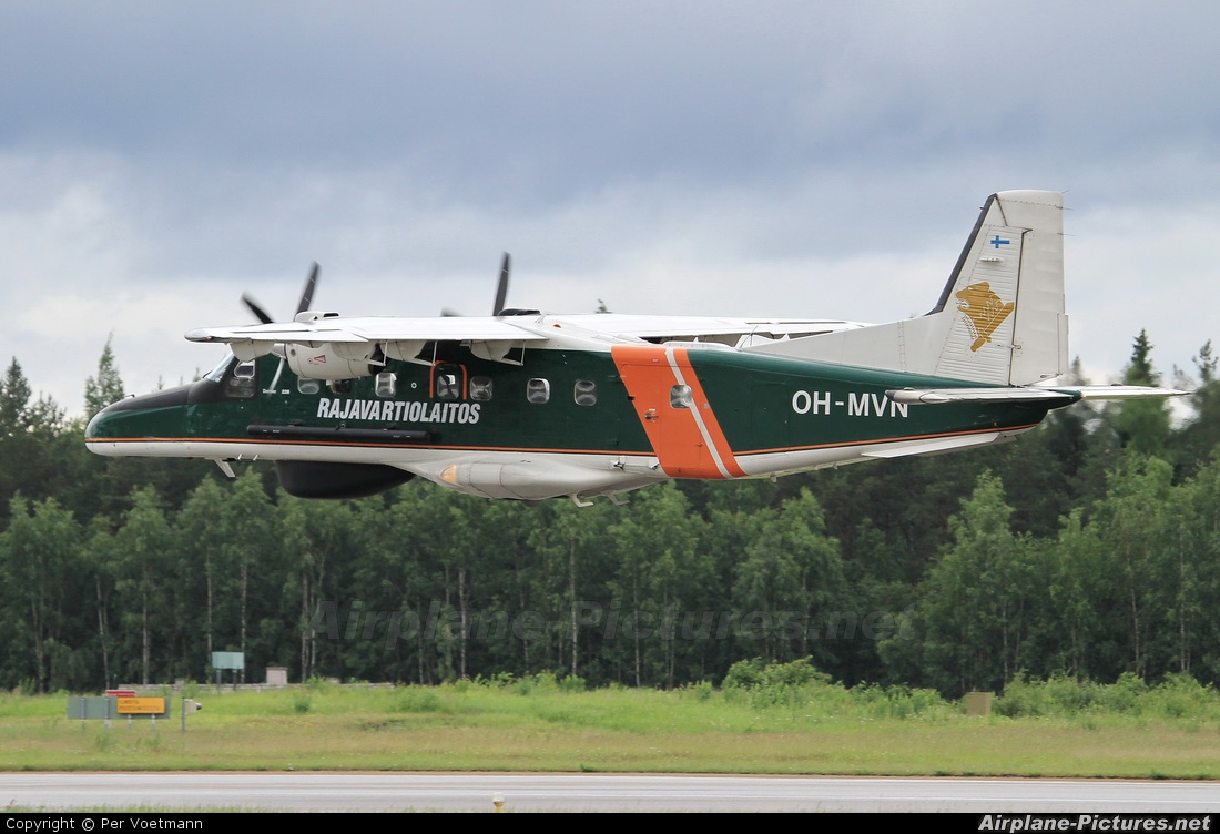 Finland - Border Guard OH-MVN aircraft at Turku