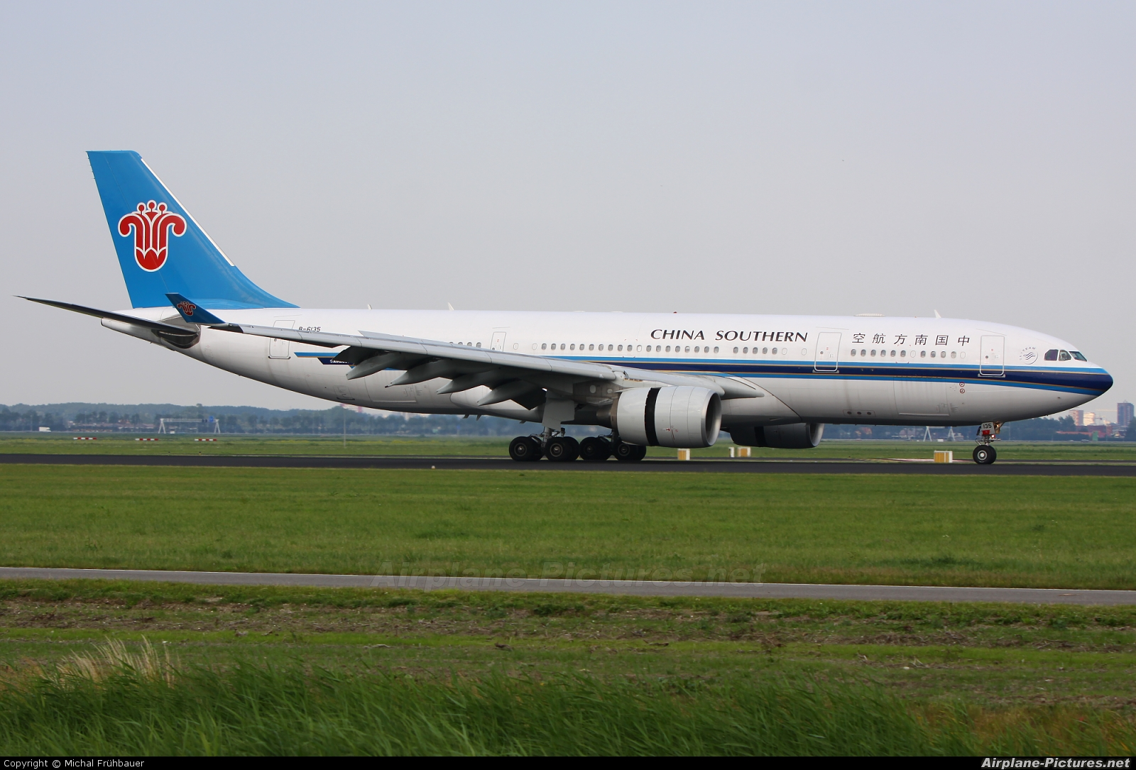 China Southern Airlines B-6135 aircraft at Amsterdam - Schiphol
